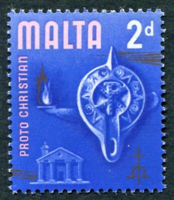 MALTA 1965-70 2d multicoloured SG333 mint MH FG Proto Christian era a #W18