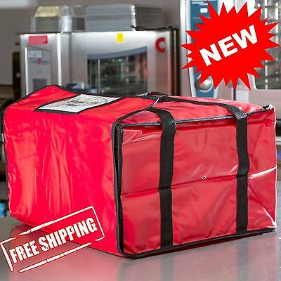 """20"""" x 20"""" x 12"""" Durable Concession Vinyl Insulated Pizza Delivery Bag, 2 BAGS"""