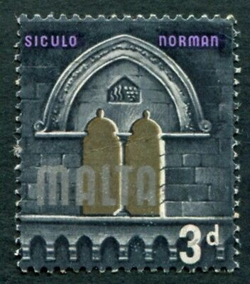 MALTA 1965-70 3d multicoloured SG335 mint(?) MH FG Siculo Norman era b #W18