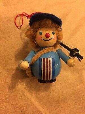 STEINBACH FISHERMAN Wood Christmas Ornament Handcrafted in Germany