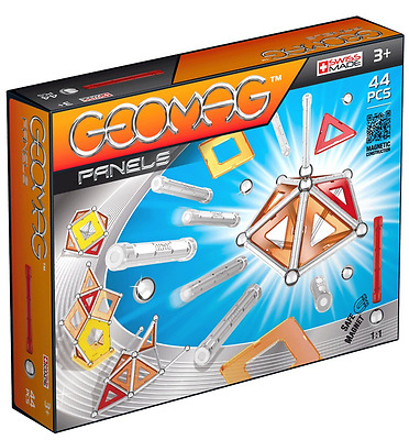 Geomag Panels (44 Pieces) - Free UK Delivery - Glitter Magnetic Set of Pieces