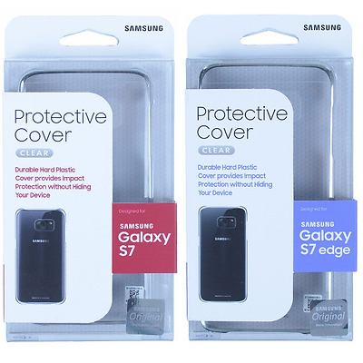 Authentic For Samsung Galaxy S7 Edge & Galaxy S7 Clear View Skin Case Cover NEW