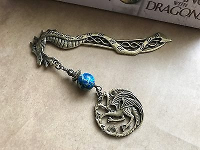 "NEW Game of Thrones ""Targaryen 3-Headed Dragon"" Bookmark from Between the Pages"