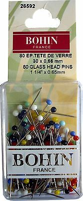 Glass Head Pins Assorted