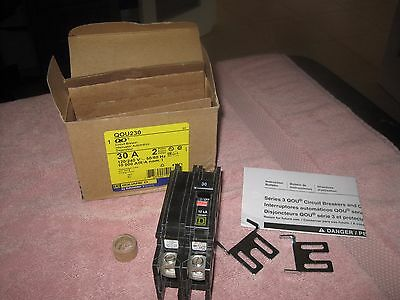 Square D Qou230 2 Pole Circuit Breaker 30A New In Box