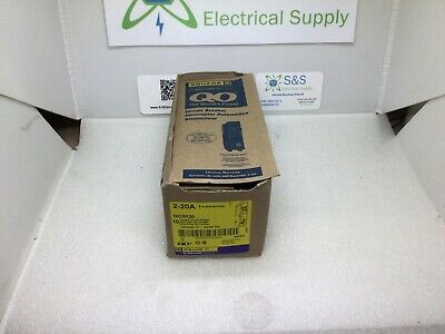 Square D Tandem Circuit Breaker QO2020 20/20A Two Single Pole