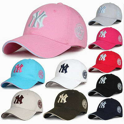 Fashion Men Women Baseball Bboy Cap Adjustable NY Snapback Sport Hip-Hop Sun Hat