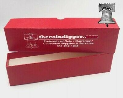 12 Coin Storage Box Red 9x2x2 Holder SINGLE ROW for 2x2 Flips Snaps Holders