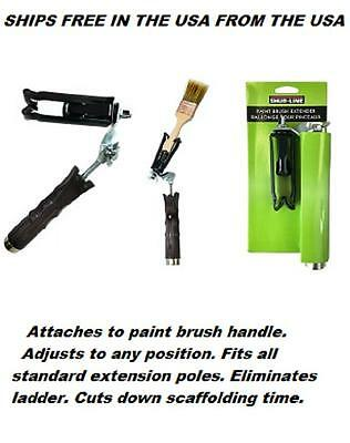 Brush Extender for Paint Brushes & Extension Poles Any Position Ships FREE USA !