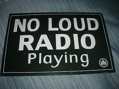 "Vintage Wooden Sign ""no Loud Radio Playing"" New York Park System 1960's /70's"