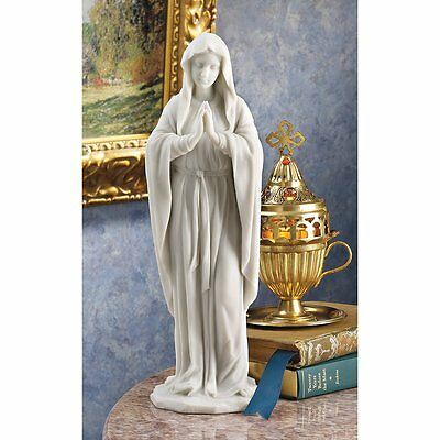 Statue Blessed Mother Virgin Mary Figurine Sculpture Religious Prayer Marble