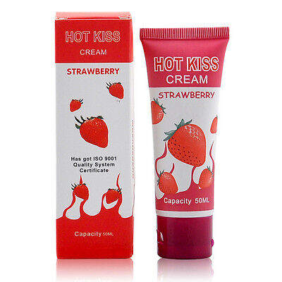 50ml Fragola Commestibile Lubrificante Anale Vaginale Intimo Sex Olio Massaggio
