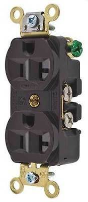 Receptacle, Hubbell Wiring Device-Kellems, HBL5352 Brown Edison Duplex