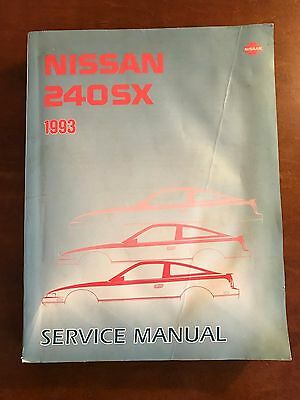 1993 Nissan 240SX Factory Service Manual Book Complete Nice Nissan 93 240 SX OEM