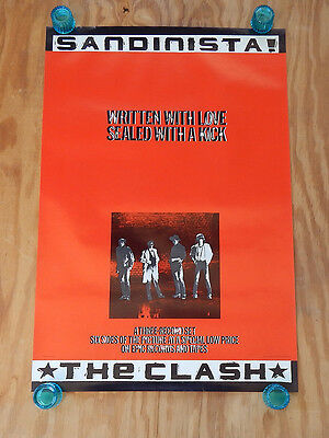 The Clash    -   Sandinista   -   Original Rolled Rock Promo Poster (1980)