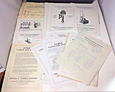 1918 Arthur H. Thomas Co. Rare Huge Lot Apparatus Laboratory Equipment Catalogs