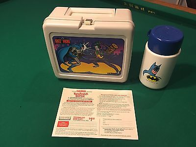 Mint! Vintage Thermos Lunchbox Batman Vs Joker 1982 With Thermos & Cup Dc Comics