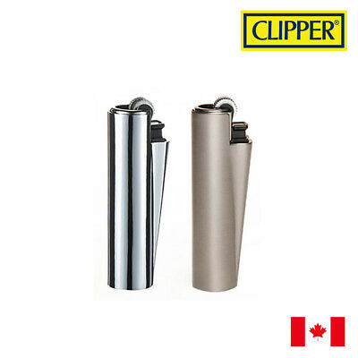 2 Clipper Classic Metal Cover Refillable Lighters