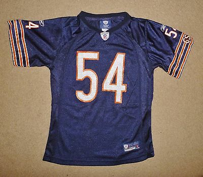 New Reebok CHICAGO BEARS NFL Jersey #54 BRIAN URLACHER Boys 10 - 12 yrs