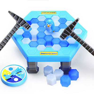 Penguin Trap Rescue Icebreaker Kids Puzzle Table Knock Ice Block Family Fun Game