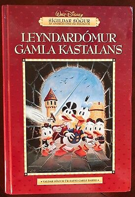 Disney Uncle Scrooge McDuck book w/ letter, photo of Carl Barks & his autograph