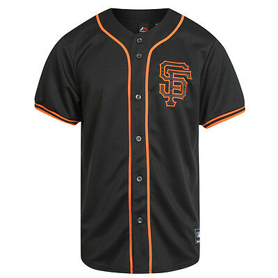 Majestic MLB San Francisco Giants Alternate Replica Jersey – Black