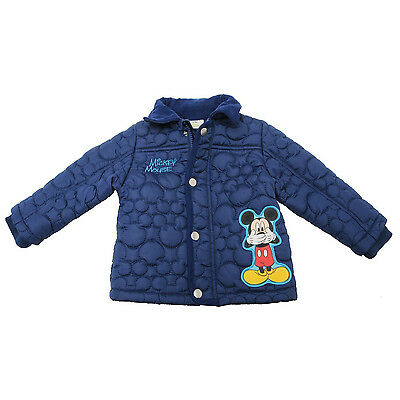 BNWT Baby Boys Mickey Mouse Winter Padded Snow Jacket size 1 - 2 years
