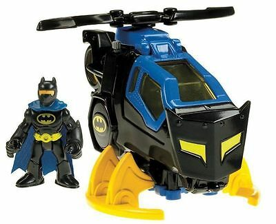 Batman Batcopter Rotating Helicopter Blades Kids Collectors Toy Figure Boys