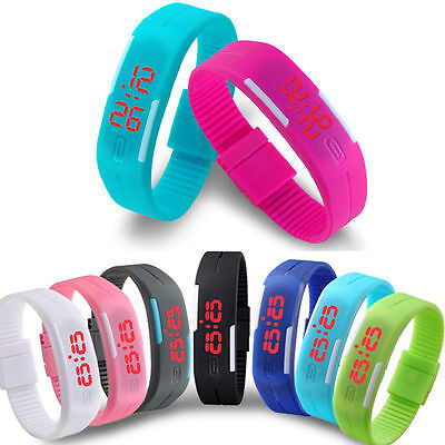 Digital LED Sports Silicone Bracelet Wrist Watch for men and women
