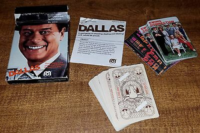 Vintage Mega Corp. Dallas Playing Cards Game Deck 1980 No. 02014 With Box