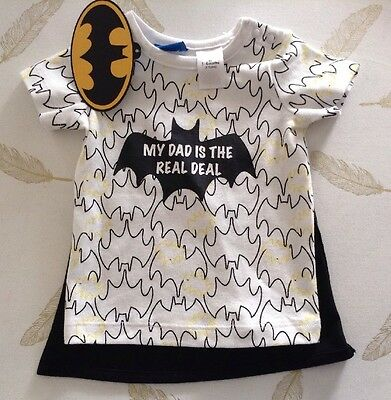 Target Batman Baby Boys T Shirt With Cape Size 3-6 Months New