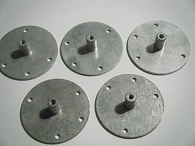Lot Of 5 Metal Music Box Movement Turntable, Figurine Mounting Holes, Key Mount