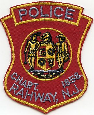 old vintage RAHWAY NEW JERSEY NJ POLICE PATCH