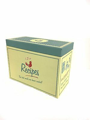 Retro Yellow Kitchen Recipe Box with Card Dividers Pantry Box Paper Storage Box