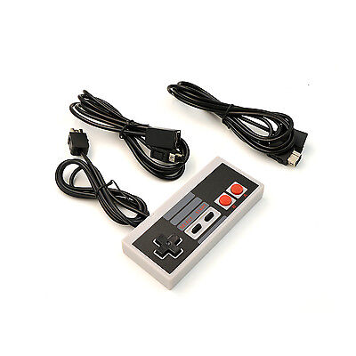 Controller +2x Extension Cables For Nintendo NES Classic Mini Console Gamepad