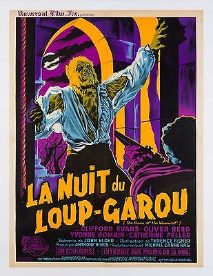 Original The Curse of the Werewolf, French, Film/Movie Poster 1961