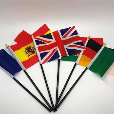 Hand Flag EUROPE Flags ALL COUNTRIES Without Base 100% to Charity