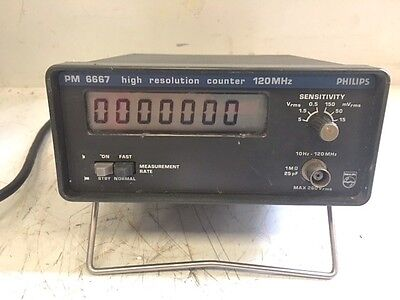 Philips PM6667 120MHz High Resolution (Reciprocal) Counter