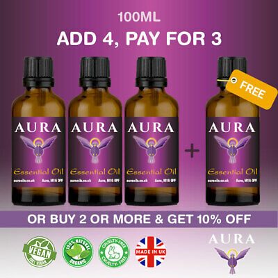 Essential Oils Pure Aromatherapy Therapeutic Grade Free Shipping 100ml Natural