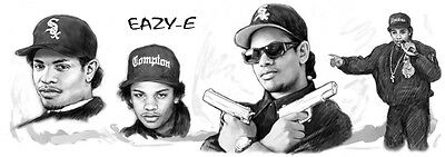 Eazy - e Long Drawing Art Poster 85x30cm