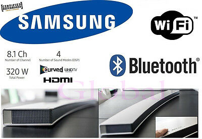 "Samsung 8.1CH 55"" Wireless Curved Soundbar Subwoofer Bluetooth Sound Bar HWJ7501"