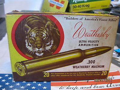 Vintage 300 Weatherby 1960's Tiger style ammo Box storage tray; many MORE boxes