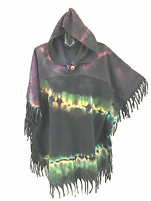 Lot of 3 stonewash hoodie/poncho.Winter weigh.Quality.Unique.Suit unisex.Hippy.