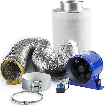 "Phresh Hyper Fan & Rhino Pro 6"" Digital Hydroponic Extraction Kit 5m Ducting"