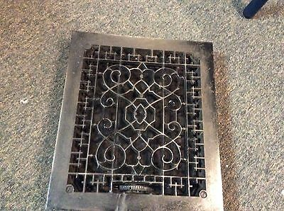 Ornate Cast Iron Heating Grate Register Vent w/Louvers Fits 10 x 12 Hole