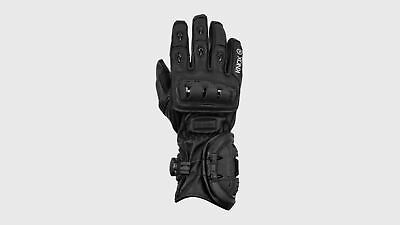 Knox Nexos Gloves Sport / Touring Motorcycle Leather Hand Armour Brand New Black