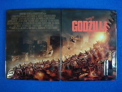 GODZILLA Embossed Steelbook Case ONLY (G2 SIZE BLU-RAY PS3 PS4 Xbox One)