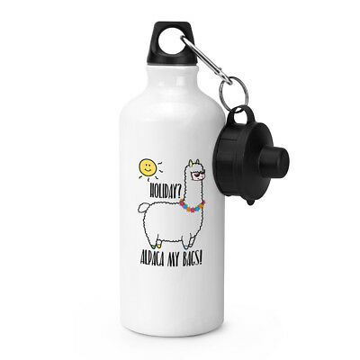 Holiday Alpaca My Bags Sports Drinks Water Bottle - Llama