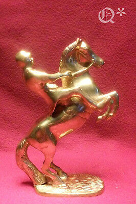 70s Brass statue of the jockey on a horse
