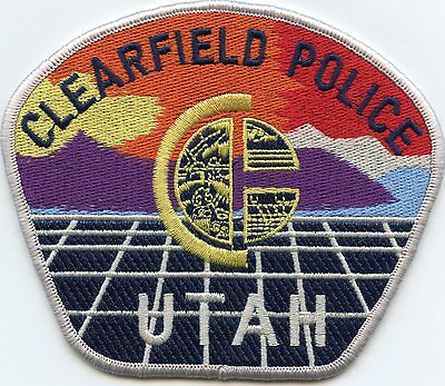 CLEARFIELD UTAH UT very colorful POLICE PATCH